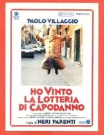 CINEMA-CARTOLINA MANIFESTO FILM-HO VINTO LA LOTTERIA DI CAPODANNO-PAOLO VILLAGGIO- - Manifesti Su Carta