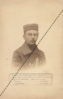 Souvenir Carte Postale Jacob De Verviers Militaire Guerre WWI Mort à Caeskerke 1916 - Décès