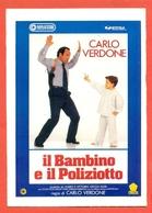 CINEMA-CARTOLINA MANIFESTO FILM-IL BAMBINO E IL POLIZIOTTO-CARLO VERDONE-CARLO VINCIGUERRA - Manifesti Su Carta