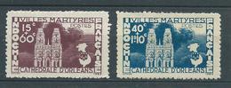 INDOCHINE 1944 . N°s 292 Et 293 . Neufs (*) Sans Gomme . - Indochine (1889-1945)