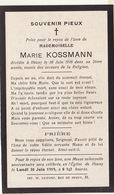 Décès De Marie Kossmann à Heusy 1918 - Décès