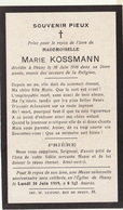 Décès De Marie Kossmann à Heusy 1918 - Overlijden