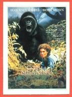 CINEMA-CARTOLINA MANIFESTO FILM-GORILLA NELLA NEBBIA-SIGOURNEY WEAVER-BRYAN BROWN-JULIE HARRIS - Manifesti Su Carta