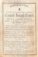 Décès De Corneil Joseph Cornet Verviers 1870 Saint Joseph - Décès