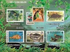 SAO TOME E PRINCIPE 2010 SHEET STAMPS ON STAMPS FAUNA WWF St10507a - Sao Tome Et Principe
