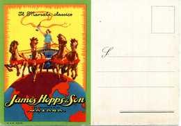 """Cart. PUBBL. """"Il Marsala Classico James Hopps & Son"""" - Pubblicitari"""