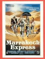 CINEMA-CARTOLINA MANIFESTO FILM-MARRAKECH EXPRESS-DIEGO ABATANTUONO-FABRIZIO BENTIVOGLIO - Manifesti Su Carta