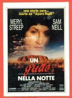 CINEMA-CARTOLINA MANIFESTO FILM-UN GRIDO NELLA NOTTE-MERYL STREEP-SAM NEILL-NICK TATER - Manifesti Su Carta