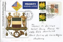 Internationale Briefmarken-Börse Sindelfingen Baden-Württemberg,Brief An Das Fürstentum Andorra - BRD