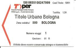 ITALIA - Biglietto Autobus BOLOGNA Tper Area Urbana - Europe