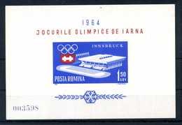 1963 ROMANIA BF56 MNH ** - Blocks & Sheetlets
