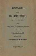 Mémorial 1933 Docteur Constant Jacob Verviers Hospice Des Vieillards Discours Docteur Charneux Tricot Bienfait ... - Historical Documents
