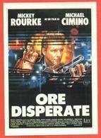 CINEMA-CARTOLINA MANIFESTO FILM-ORE DISPERATE-MICHEY ROURKE-ANTHONY HOPKINS - Manifesti Su Carta