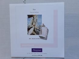 "BURBERRY  Flyer   "" HER ""   Voir Photo  !! - Perfume Cards"
