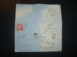 LETTRE (PLI) TP 15 BANI OBL. + PD + OBL. 20 4 MIHAILEVI + Datée 19 April 1870 + SAMUEL WOHL Bottuschan - 1858-1880 Moldavie & Principauté
