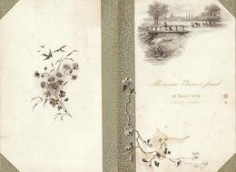 Menu 30 Janvier 1894 Pour étienne Jacob Verviers - Menus