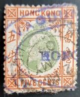 1903 Hong Kong Mi 64 . King Edward VII . Oblitération Violet - Oblitérés