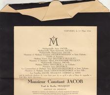 Décès De Constant Jacob Docteur En Médecine Saint Remacle Verviers - Obituary Notices