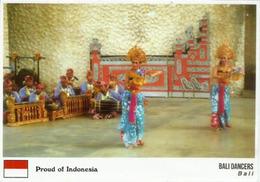 """Bali Tänzer """"Stolz Auf Indonesien!""""  Postkarte Auf Der Rückseite Geschrieben - Tanz"""