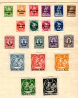 1920  BAYERN , Bavière Surchargés, 118A / 118 V*, (quelques Collants), Cote 32 € - Bavaria