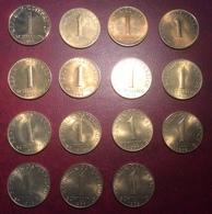 Österreich Republik 1 Schilling 1964-1982 15 Versch. Jahre PRÄGEFRISCH-STG   (Münze MS UNC Coin Monnaie Austria Autriche - Oesterreich