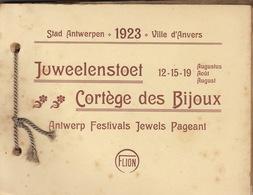 Livret De 40 Planches Cortege Des Bijoux Juweellenstoet Anvers Antwerpen 1923 - Historical Documents