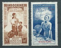 INDOCHINE 1942 . Poste Aérienne N°s 21 Et 23 . Neufs ** (MNH) - Posta Aerea