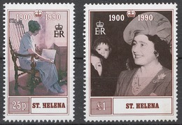 St.Helena 1990 Mi# 534-35** QUEEN MOTHER, 90th BIRTHDAY - Saint Helena Island