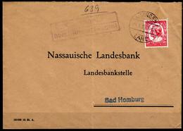 Brief Posthilfstelle Obernhain über Usingen Land 1935  (6004 - Non Classificati