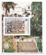 GUATEMALA 1988, NATIONAL FOLK FESTIVAL, LIONS, SOUVENIR SHEET MICHEL BL32, YVERT BF27 - Guatemala