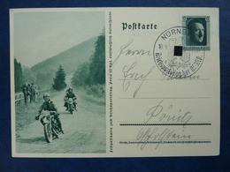 Fest-Postkarte Zum Reichsparteitag 1937, Hitler, Sonderstempel Nürnberg, Deutsches Reich Ganzsache (A) - Deutschland
