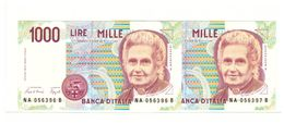1000 MONTESSORI  Lettera A 1990 FDS - 1000 Lire