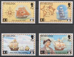 St.Helena 1992 Mi# 567-70** DISCOVERY OF AMERICA, 500th ANNIV. - Saint Helena Island