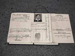 "ANTIQUE  PORTUGAL ID CARD BOOKLET "" BILHETE DE IDENTIDADE"" 1953 - Historical Documents"