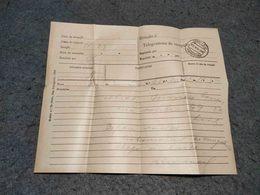 """ANTIQUE  PORTUGAL  CIRCULATED TELEGRAM """" ESCOLA POLYTECHNICA""""  LISBOA 1909 - Telégrafos"""