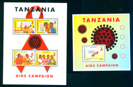 Tanzania 2007 AIDS 2 Bl/S/S MNH - Tanzania (1964-...)
