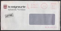 TOUR EIFFEL / 1989 EMA ILLUSTREE SUR ENVELOPPE A ENTÊTE (ref 7912) - Monuments