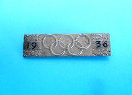 OLYMPIC GAMES BERLIN 1936. - Original Vintage Pin * LARGE SIZE * Jeux Olympiques Olympia Olympiade Olympiad Olimpici #2 - Olympic Games