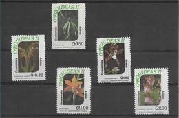 GUATEMALA ORCHIDS, FLOWERS, YEAR 1994 & 1996, 5 VALUES MICHEL 1330-32, 1351-52, SCOTT C845A, C848 - Guatemala