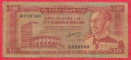 Ethiopie 10 Dollars 1966----G/TB+ - Ethiopie