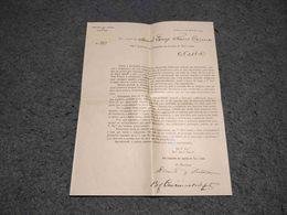 "ANTIQUE PORTUGAL "" COMPANHIA DAS LEZIRIAS DO TEJO E SADO "" DOCUMENT LETTER SIGNED BY THE OWNERS 1909 - Historical Documents"