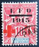 1915 Etablissement De L'Océanie Yt 39 , Mi 44 / Red Cross  / Oblitération PAPEETE - Ozeanien (1892-1958)