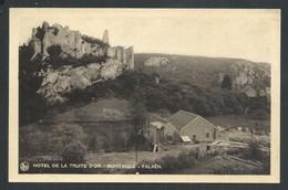 +++ CPA - FALAEN - Publicité Hôtel De La Truite D'Or - Ruines De Montaigle Et Scierie - Nels   // - Onhaye