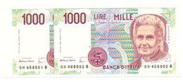 1000 MONTESSORI  Lettera A 1998  H  - FDS - 1000 Lire