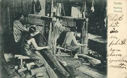 China, CANTON GUANGZHOU, Matting Factory (1909) Postcard - China
