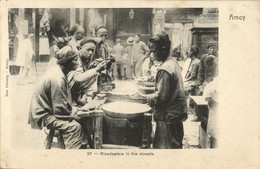 China, AMOY XIAMEN, Native Chinese Ricedealers In The Streets (1899) Mee Cheung - China