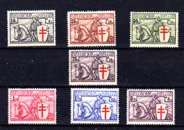 1934 Belgique, Série « Chevalier », 394 / 400**, Cote 600 €, - Belgien