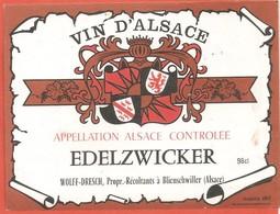 ETIQUETTE DE VIN D ALSACE - Etiquettes