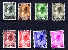 1937 Belgique, Princesse Joséphine-Charlotte, 458 / 465*(avec Défaut) Cote  10 €, - Belgien