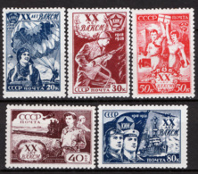 Russia 1938 Unif. 685/89 */MH VF/F - 1923-1991 URSS